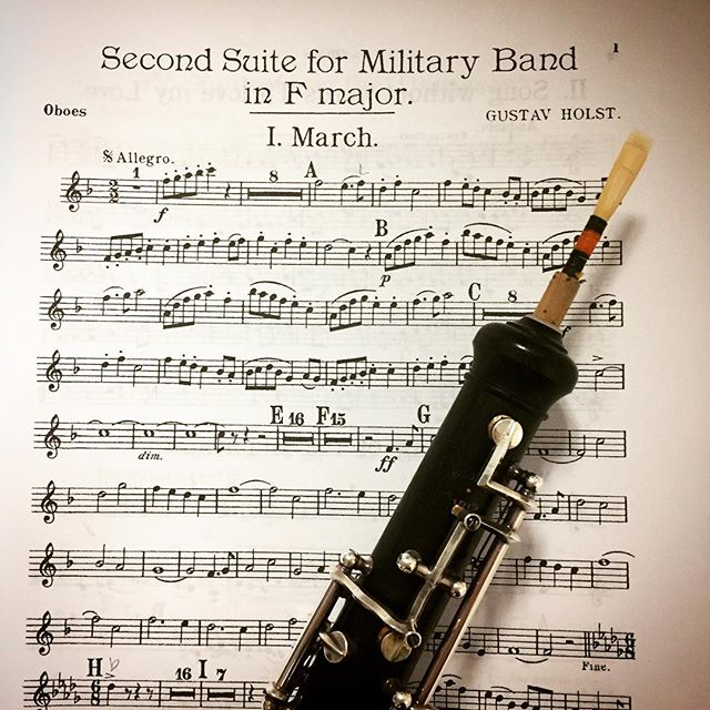 Well, hello old friend! Last night was the first time I've performed this piece since high school. It was so fun to revisit it and to realize that my fingers still new exactly what to do, even after 12 years! Plus, my reed proudly displayed my school colors so it was a win-win 🐾🧡🎶 #throwbackthursday #oboe #whitebearlake #gobears #orangeandblack #holst #band #gigmas2018