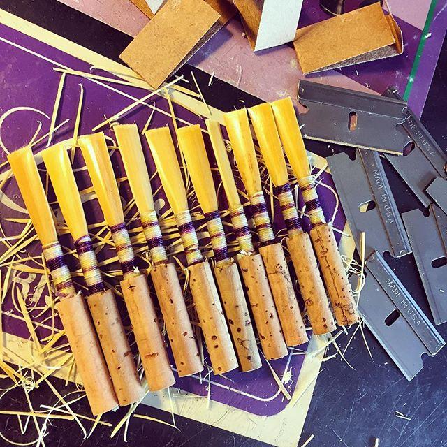 Pretty in purple 🎶💜 #oboelife #reeds #reedmaking #loree #newdaynewreeds