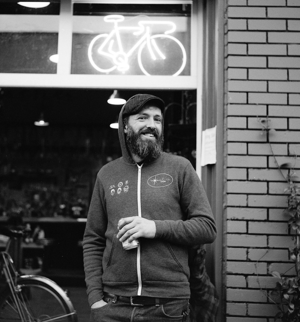 Stoic Wheels is run by Brian Pagel, who has been specializing in custom wheel work for over 12 years. Experience in most every aspect of cycling including mt. biking, cyclocross, bike polo, BMX, a cross country tour, and just everyday commuting, give a wide base of knowledge to draw from.