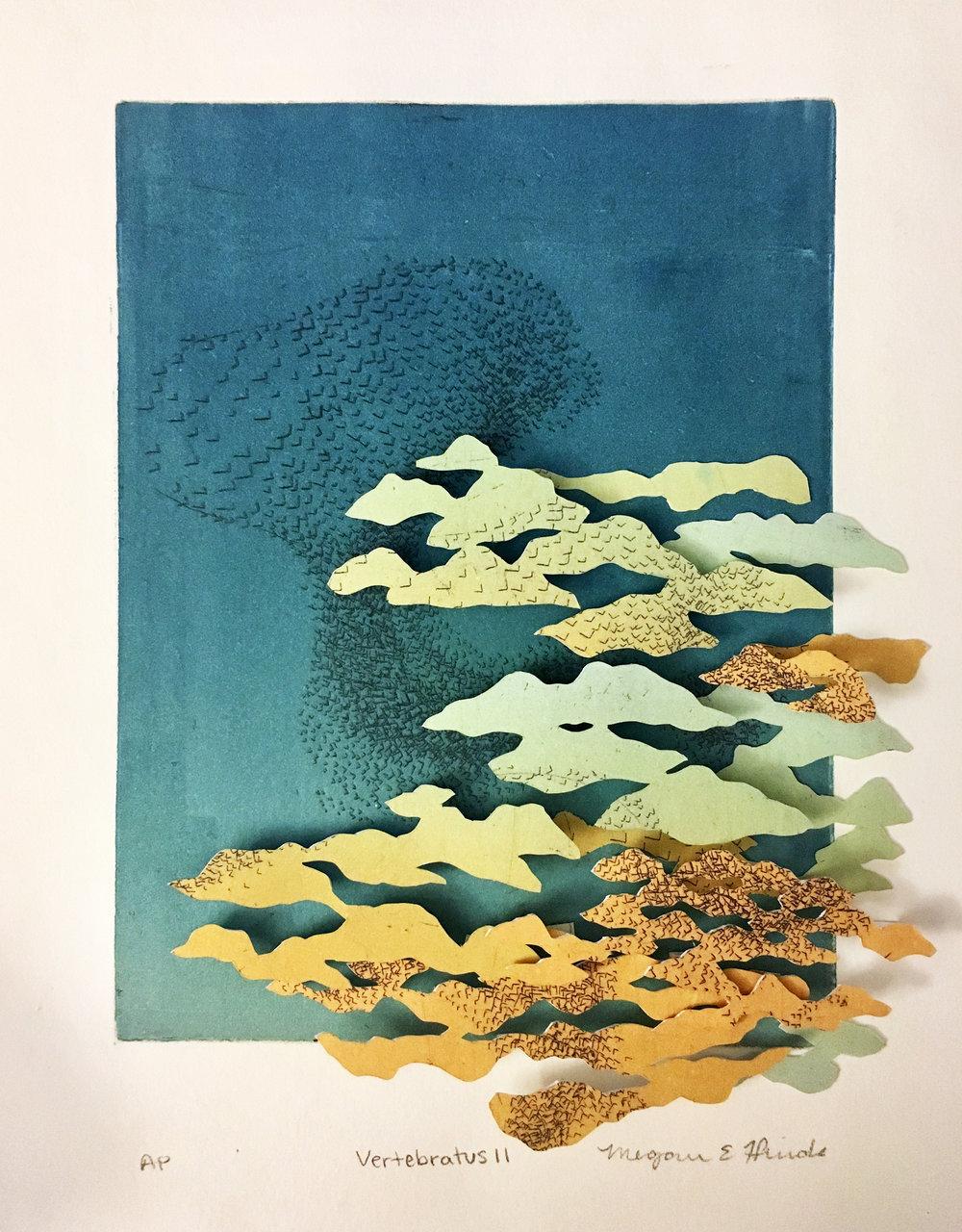 Megan Hinds_Image7_Vertabratus II _ntaglio, Monotype, Hand cut paper_8ΓÇ¥ x 10ΓÇ¥ x 2ΓÇ¥_$150  .jpg