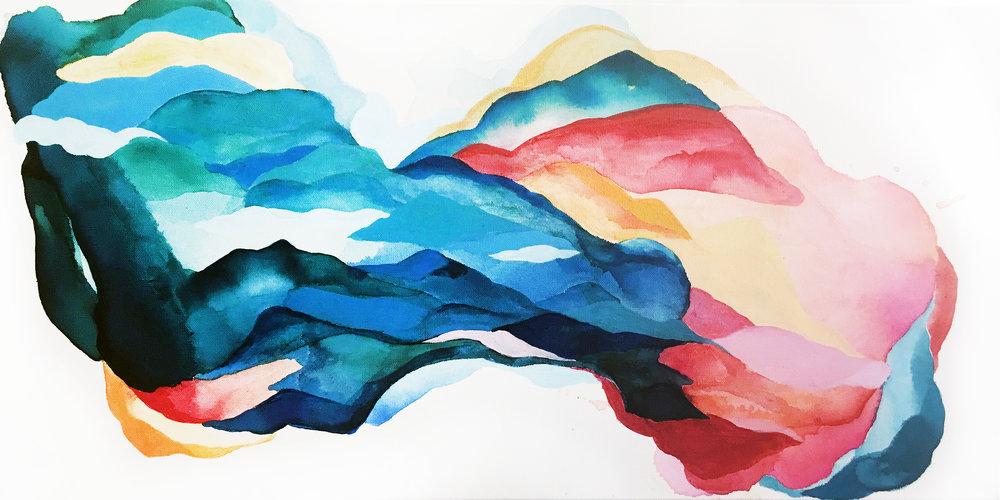 Megan Hinds_Image6_Can we run_ Acrylic, Ink Wash _24ΓÇ¥ x 36ΓÇ¥ _$850  .JPG