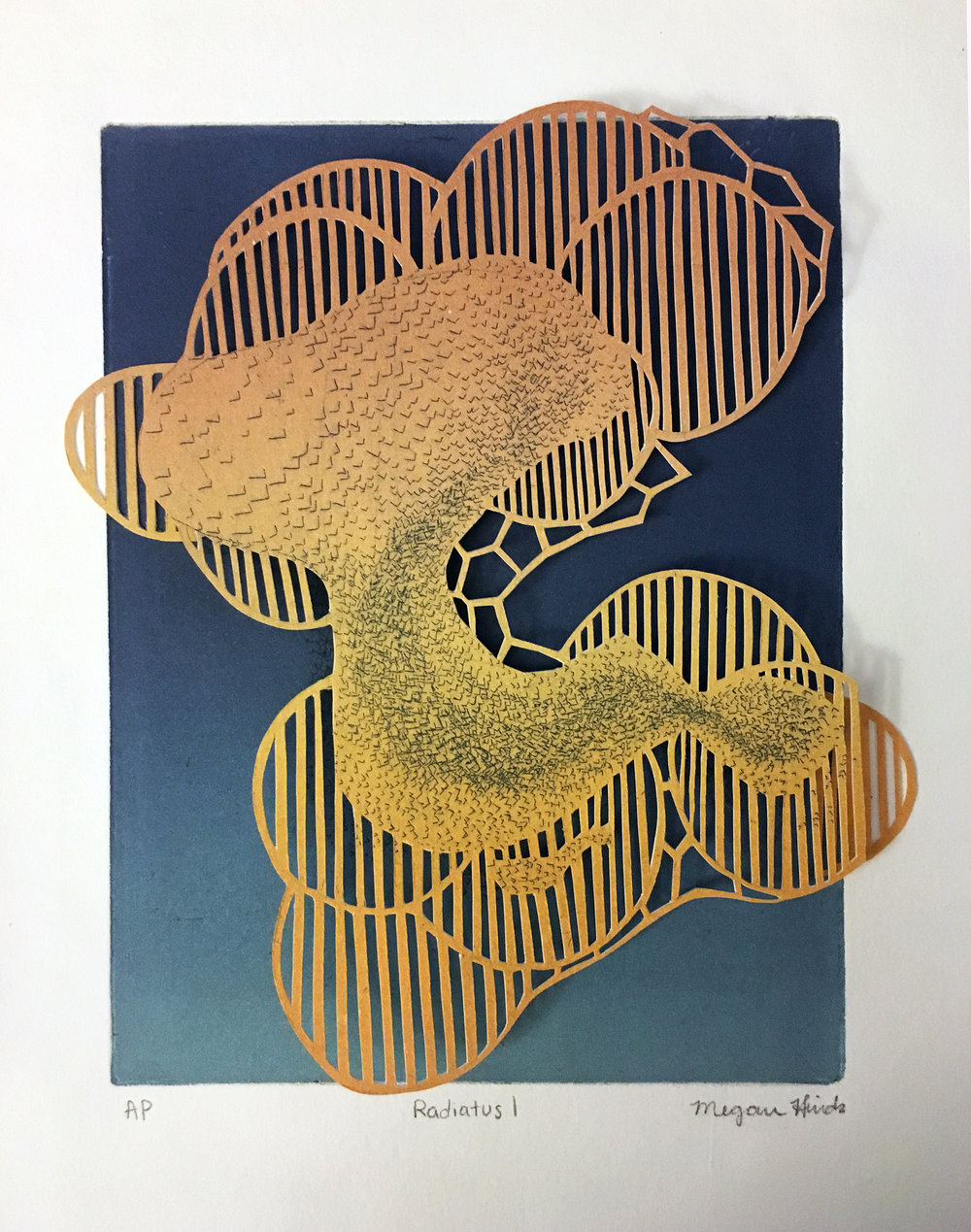 Megan Hinds_Image8_ Radiatus I_Intaglio, Monotype, Hand cut paper_ 8ΓÇ¥ x 10ΓÇ¥ x 2ΓÇ¥_$150 .jpg