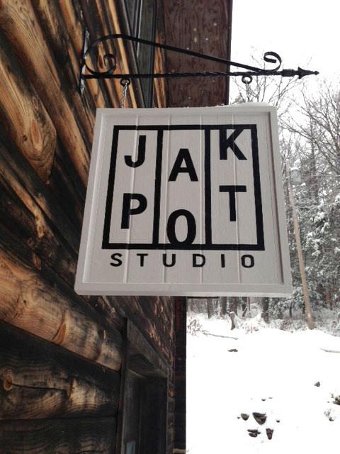 JAKPOT Sign. Logo design by Barbara Gillespie:  https://www.amazon.com/Barbara-Gillespie/e/B014YUQWTO