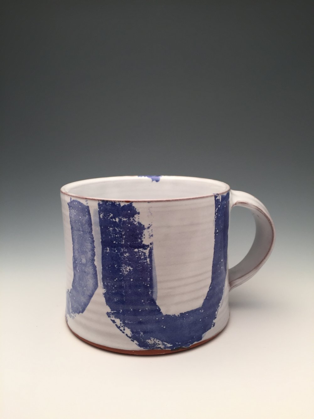 Earthenware mug with majolica glaze. 2016.