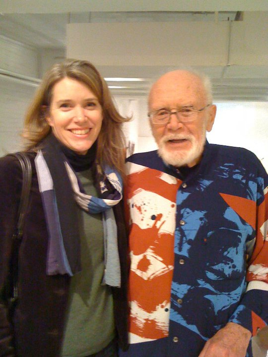 Julie Knight with potter Warren Mackenzie in NYC.