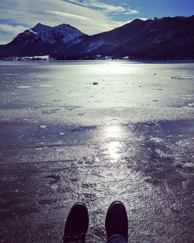 Adventures on the ice. #amschliersee #aufschliersee #onice #aneis #withthewife #lovemylife #imgood