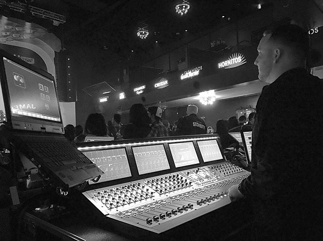 #flashbackfriday mixing live bands, on what has become our new favorite console.