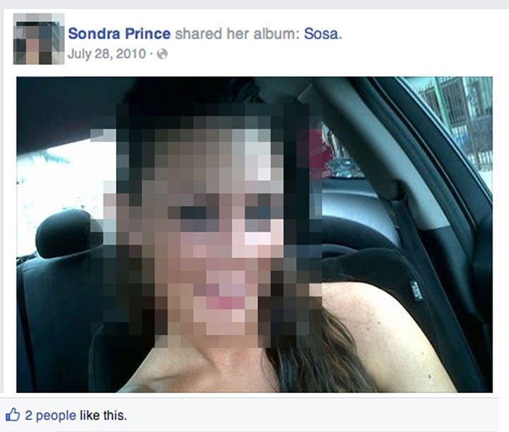 Fake Sondra Prince FB Profile