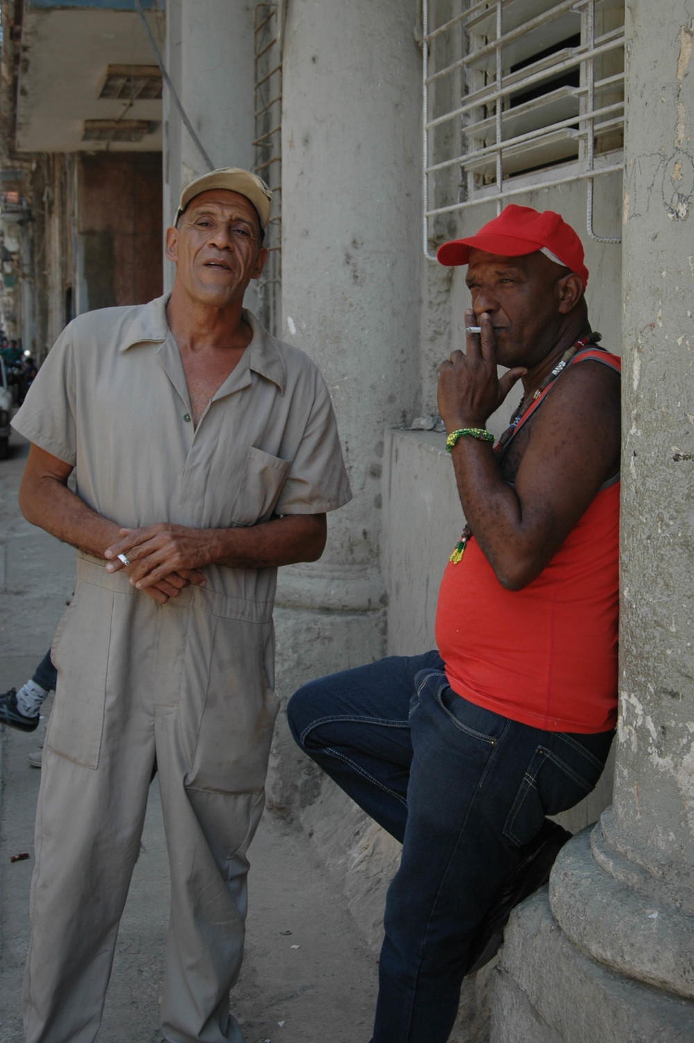 These are two of the kindest men I have ever met. Just two strangers in the street, yet they were so genuine.My Santero is on the right looking like a regular Joe, while his friend on the left..well you can just see the kindness in this man's face. He got goosebumps several times during our conversation and couldn't stress enough how I am a Cuban girl and not to ever let anyone tell me otherwise because I have it in my blood.