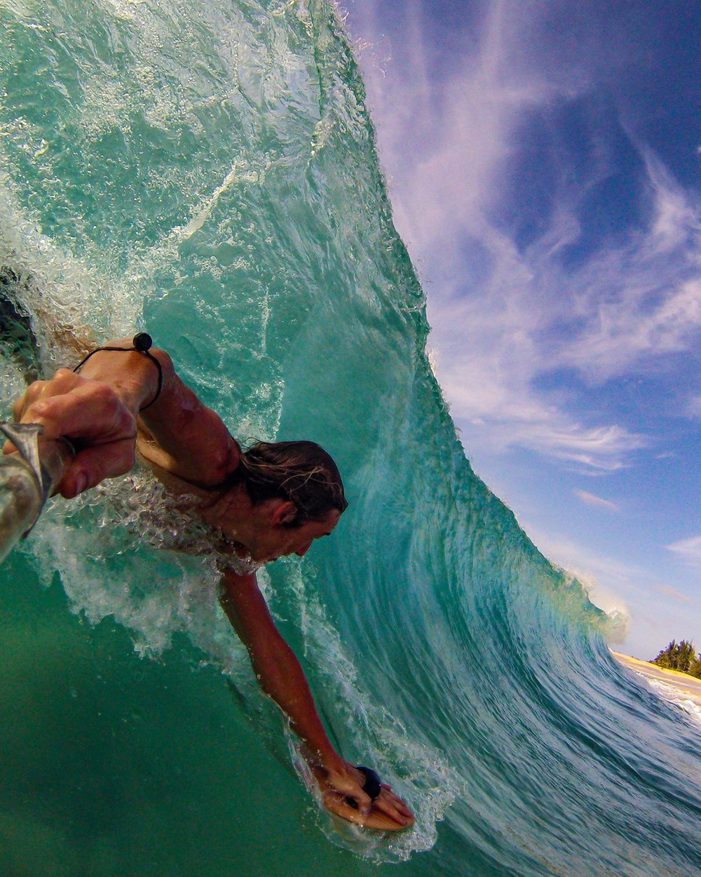 hand plane body surfing