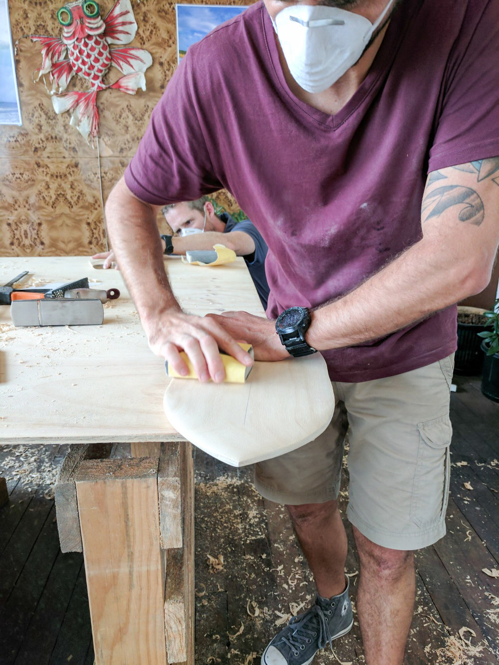 how to make a body surfing hand plane