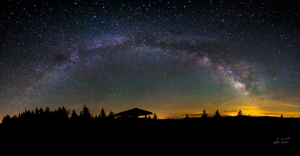 Milky Way over Scenic Highway - West Virginia
