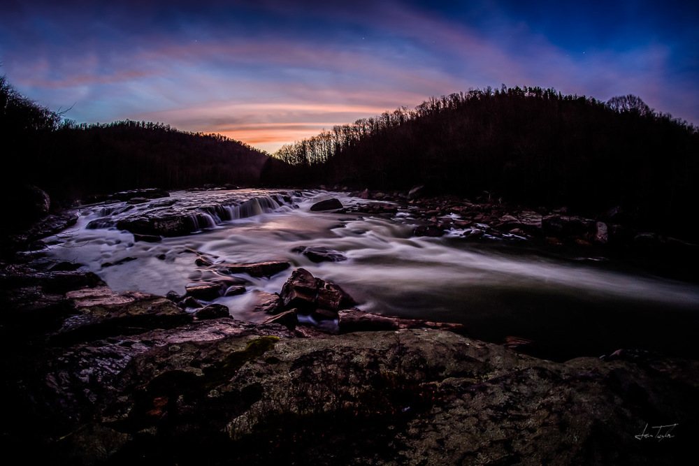Moats Falls at Dusk - West Virginia