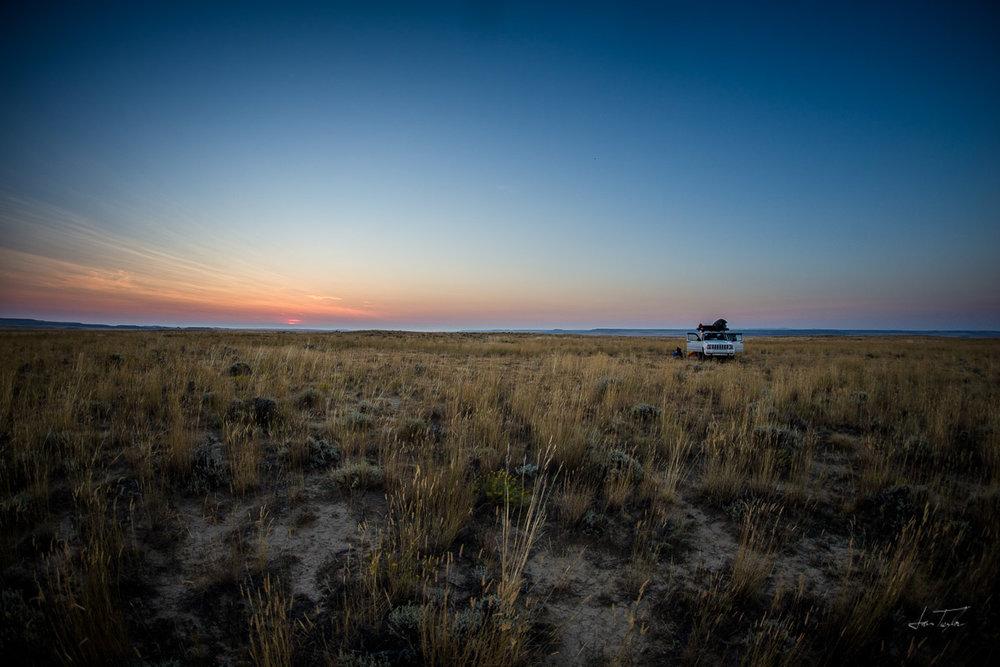 High Desert Campsite - Wyoming
