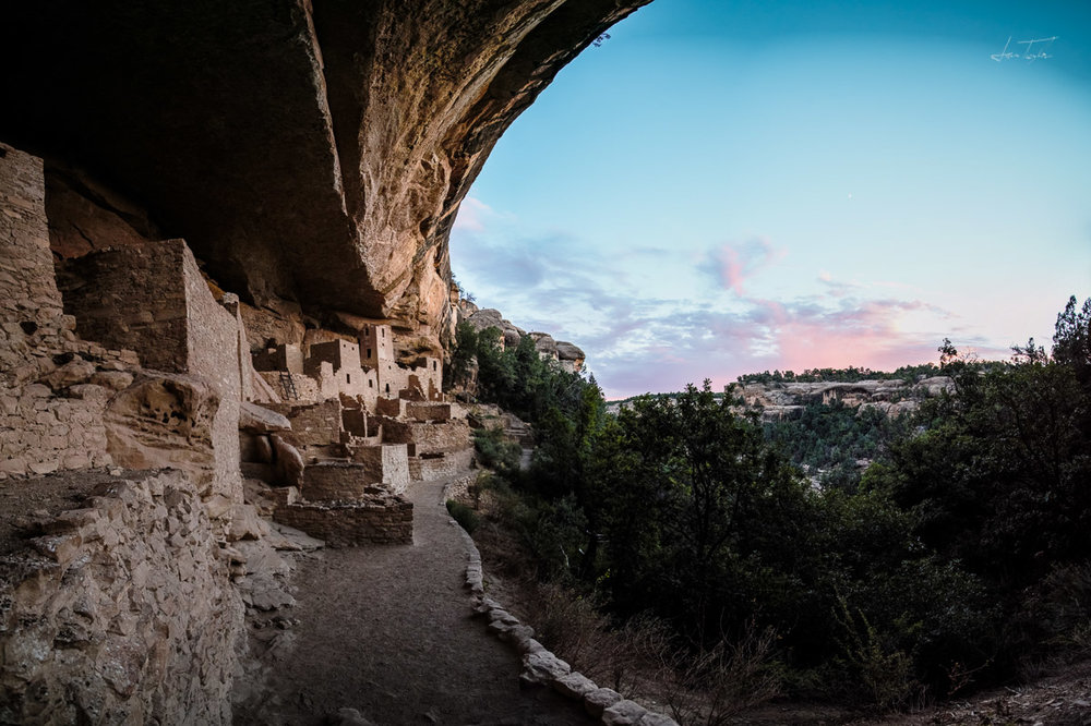 Sunset at Cliff Palace - Colorado