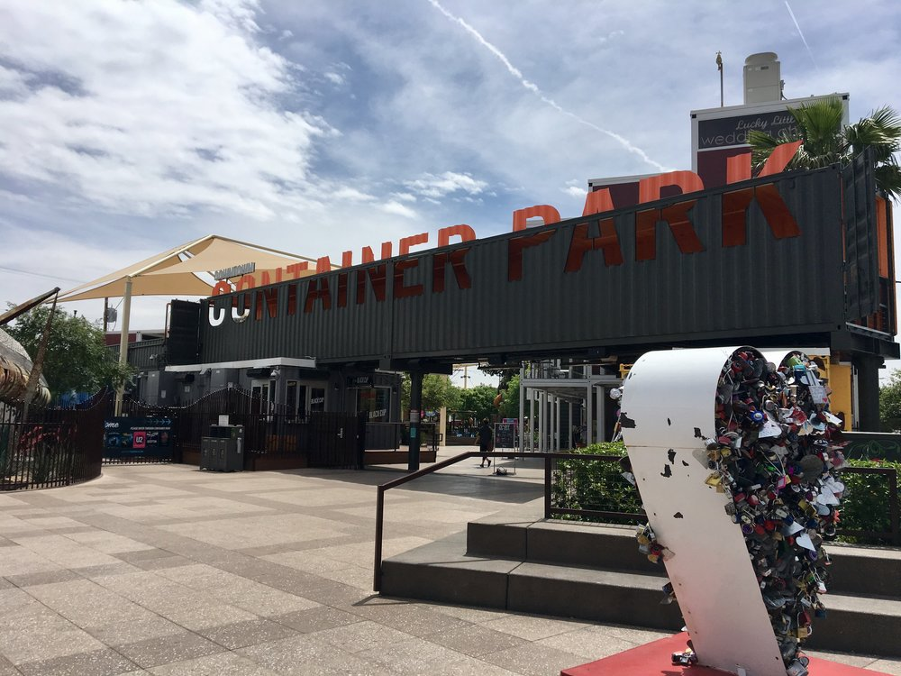 The Downtown Container Park retail start-up incubator and family friendly hang-out.