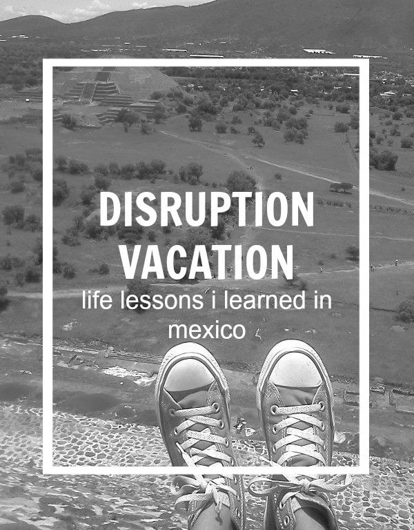 disruption vacation