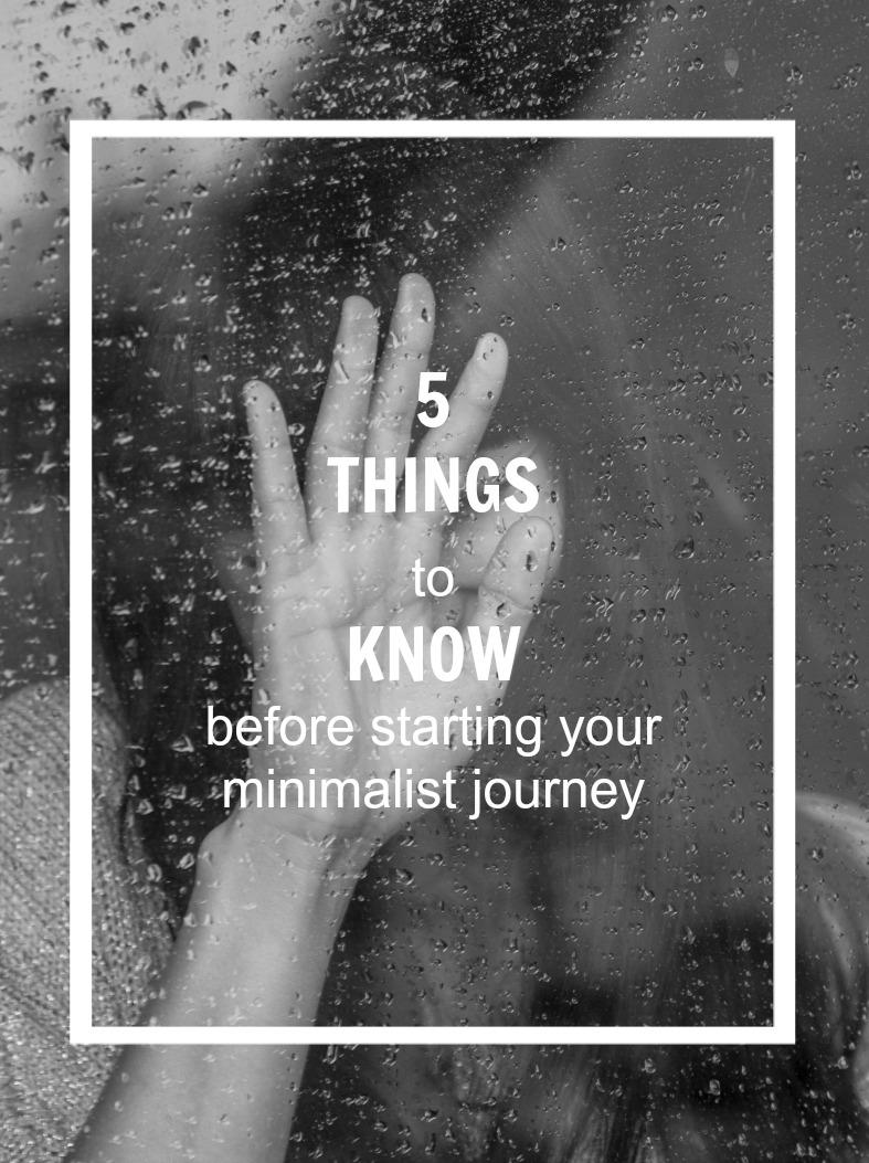 minimalist journey