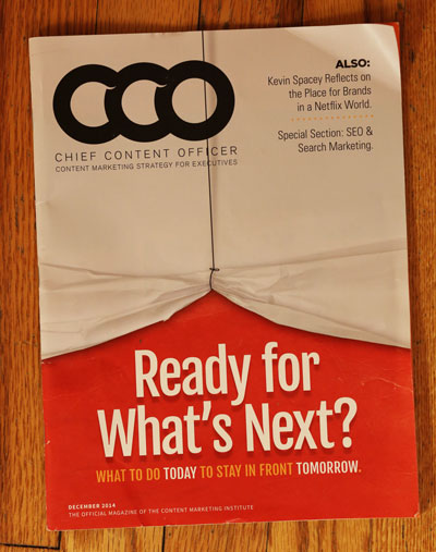 Cover of Content Marketing Magazine