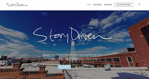 ScreenShot of the Story Driven website