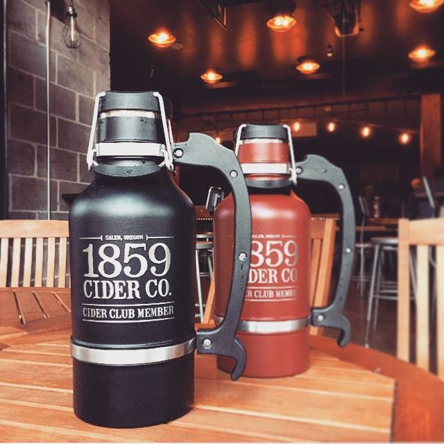 Custom cider DrinkTanks! Part of our Cider Club membership. 👍