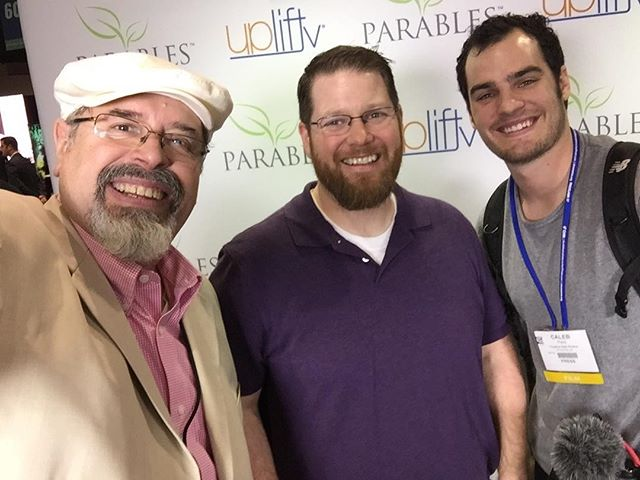 At the Uplift/Parables booth with Isaac! #nrbconvention #proclaim17 #ahighschoolstory #uplifttv