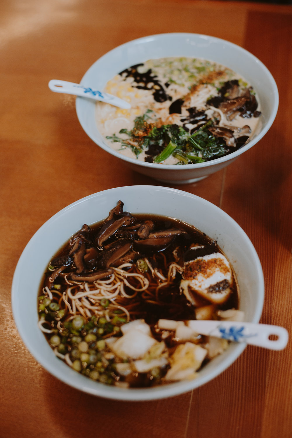 Boxer Ramen - With multiple locations throughout Portland, Boxer Ramen combines traditional Japanese flavors and recipes with vegetarian cuisine. Try the Shiitake Shoyu or Vegetarian Curry for the veggies out there or the Tonkotsu Shio or Spicy Red Miso for the meat eaters.