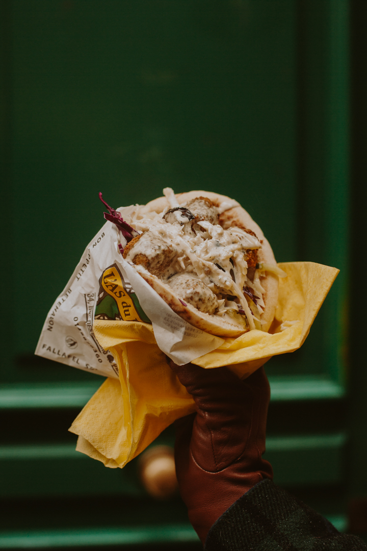L'As du Fallafel - One of the most underrated veggie friendly foods, L'As du Fallafel features long lines of vegetarians and carnivores alike — rain or shine. In a city filled with food that will break your bank, this stuffed pita is a breath of fresh air at only 6.50 €.