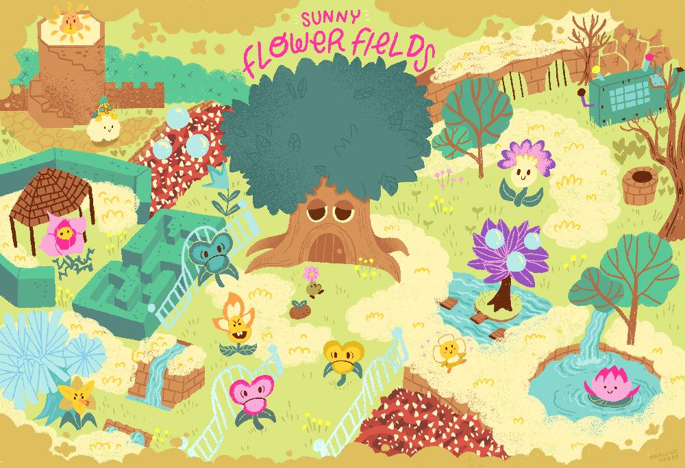 Prize detail summer games done quick 2018 prize paper mario flower fields map minimum bid 1000 image link mightylinksfo