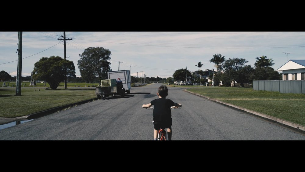 A riding scene from the video.