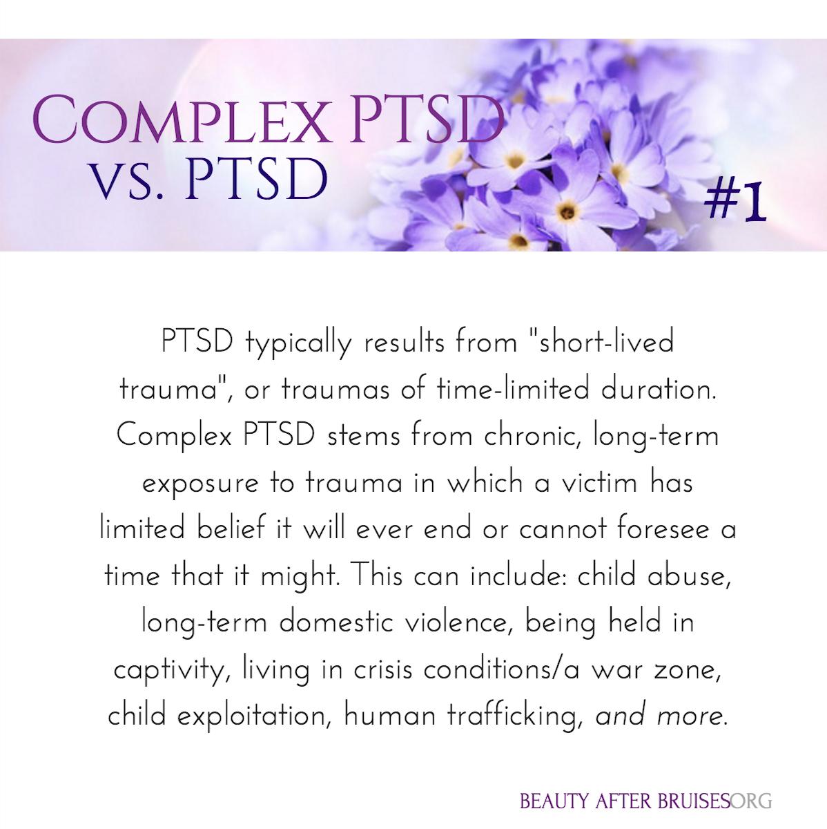 Complex PTSD at a Quick Glance