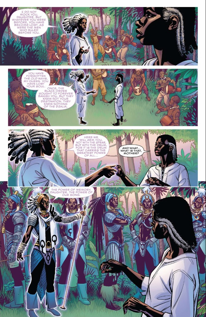 "Marvel's Black Panther comic has been gifted with the most beautiful artwork by Brian Stelfreeze. Make no mistake, there is much mysticism and ""magic"" in Black Panther too!"