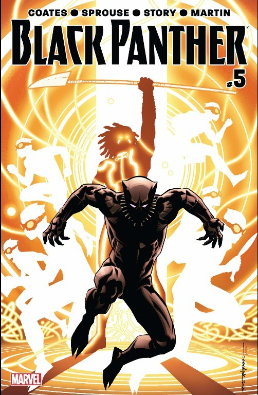 The cover of Black Panther Issue #5 which is reviewed down below...