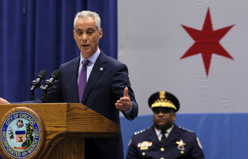 The Mayor of Chicago Rahm Emanuel pictured above