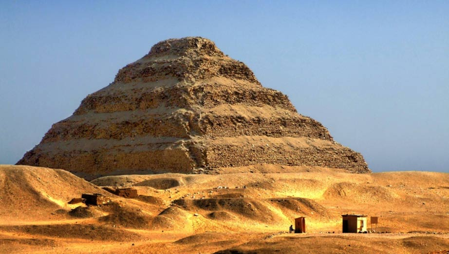 Built during the reign of Pharaoh Djoser I, the Step Pyramid at Saqqara is regarded as not only the first pyramid, but the brain-child of Imhotep.