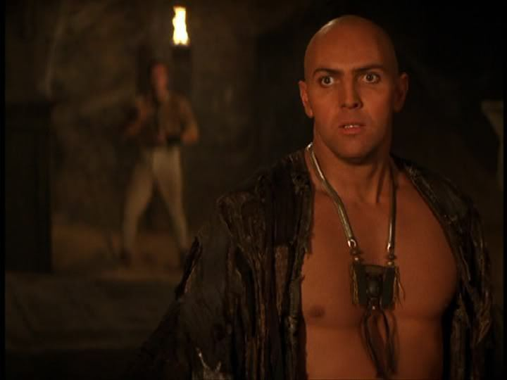 'White' Egypt Hollywood silliness. Here were see Arnold Vosloo playing the role of Imhotep in the fictional, unhistoric film 'The Mummy.'