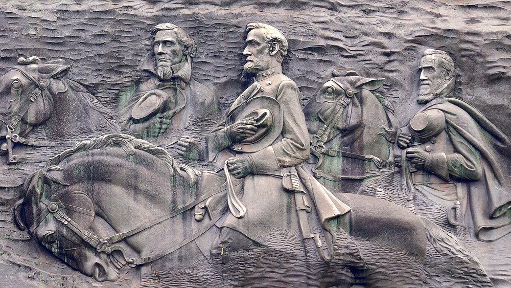 Confederates at Stone Mountain