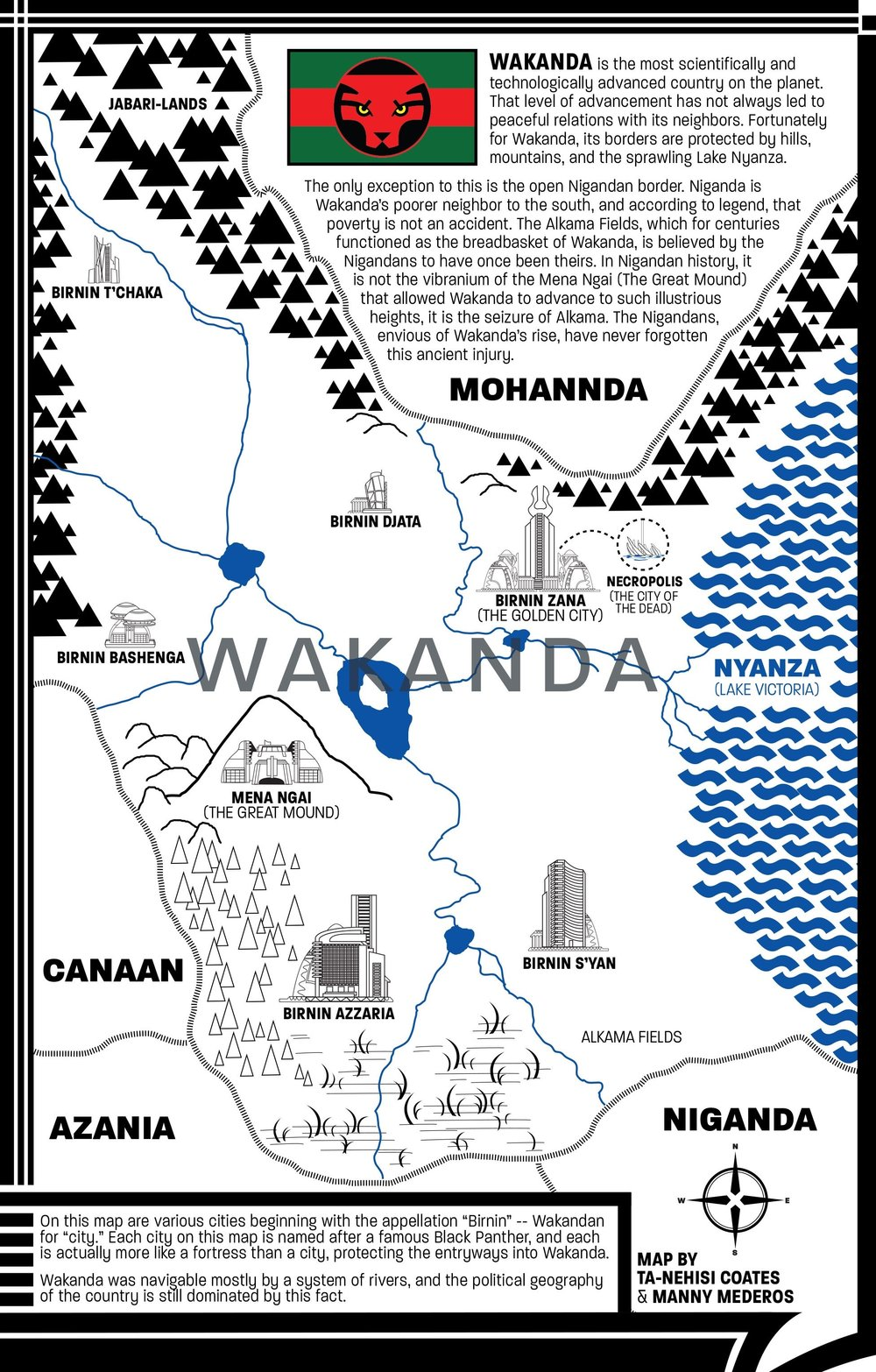 Map of Wakanda
