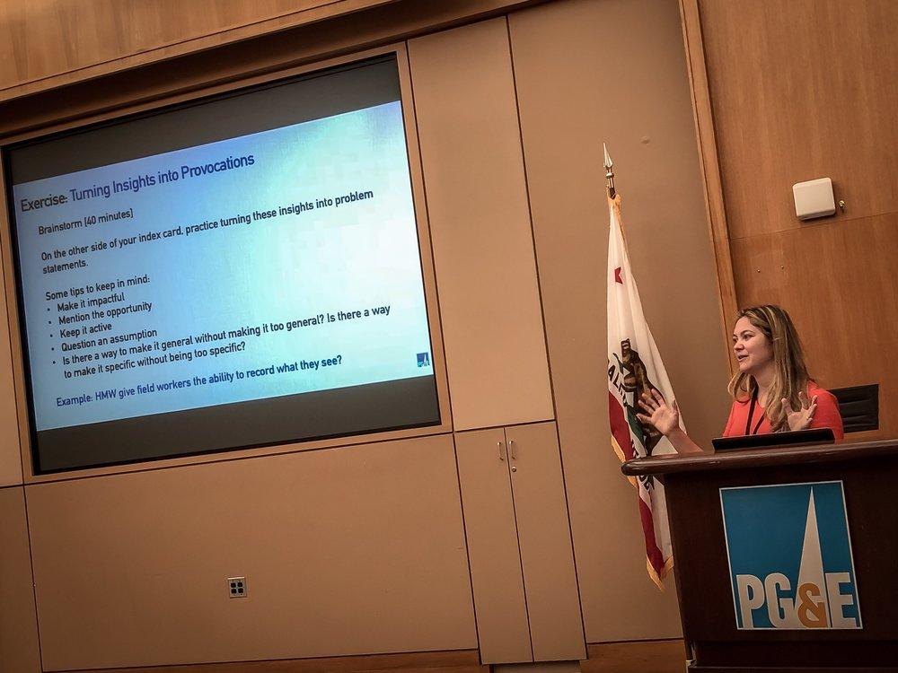 Design Thinking Workshops - Evangelizing design at PG&E