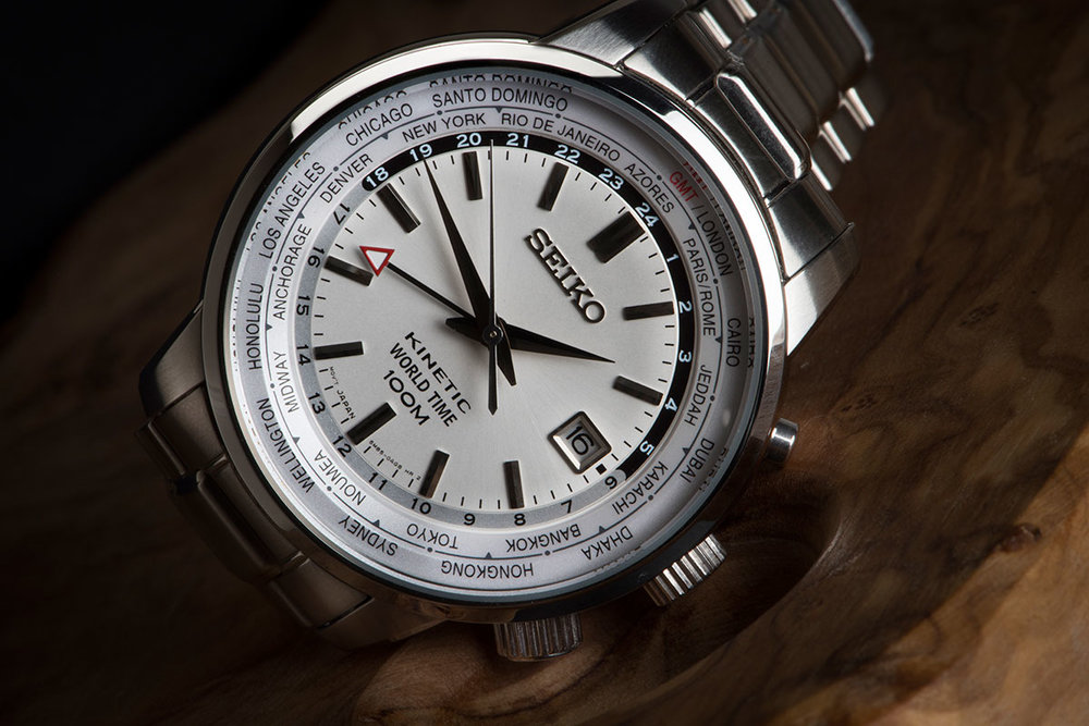 Seiko GMT kinetic world timer SUN067P1