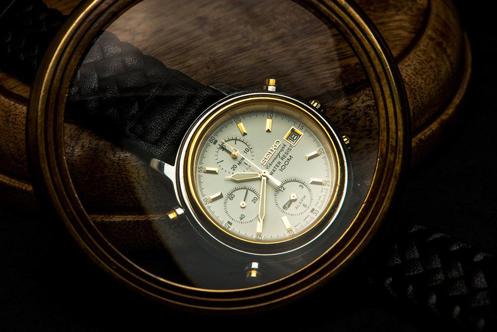 Seiko Chronograph 7T32-7H30 Gold Black Silver
