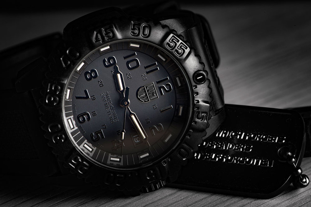 Luminox Colormark 7050 Series Blackout 38mm