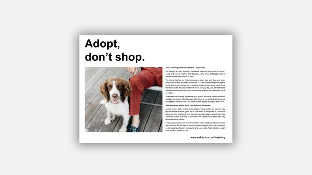 Adopt, don't shop - Poster Design