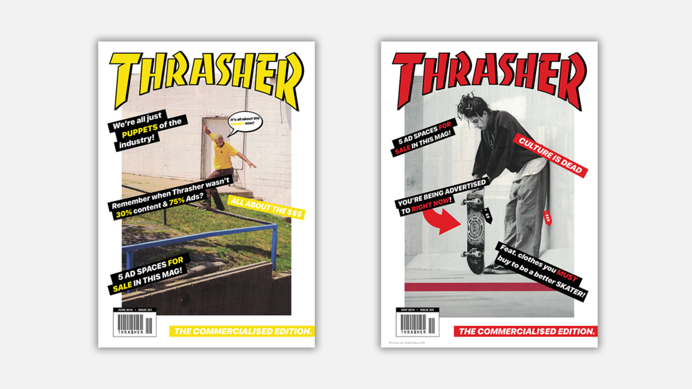 Thrasher Posters - A Critique on Commercialisation