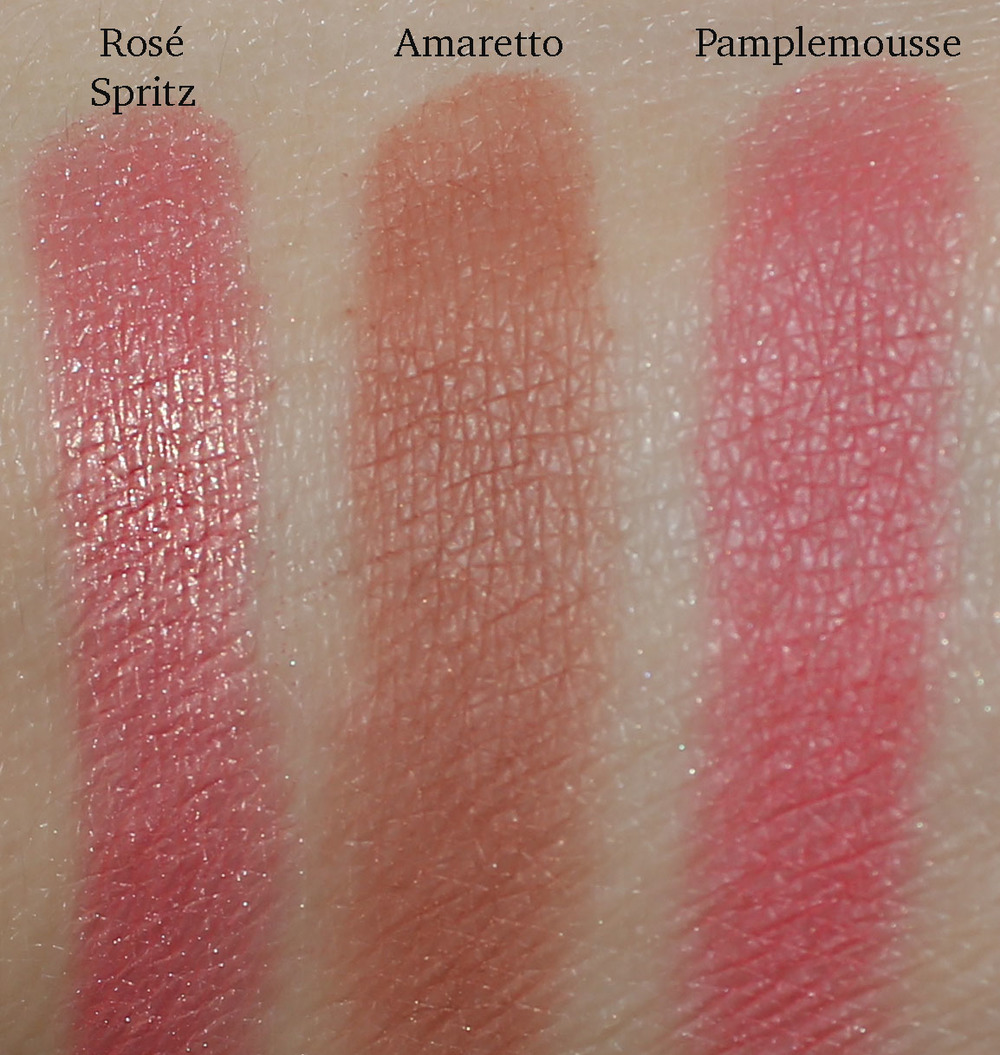 Champagne Collection Face Palette Blush Swatches
