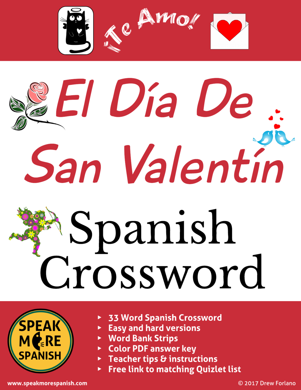 Free Spanish Crossword Valentine's Day