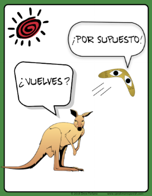 Un cartel gracioso para la clase. Click the image to download this free poster for your class!