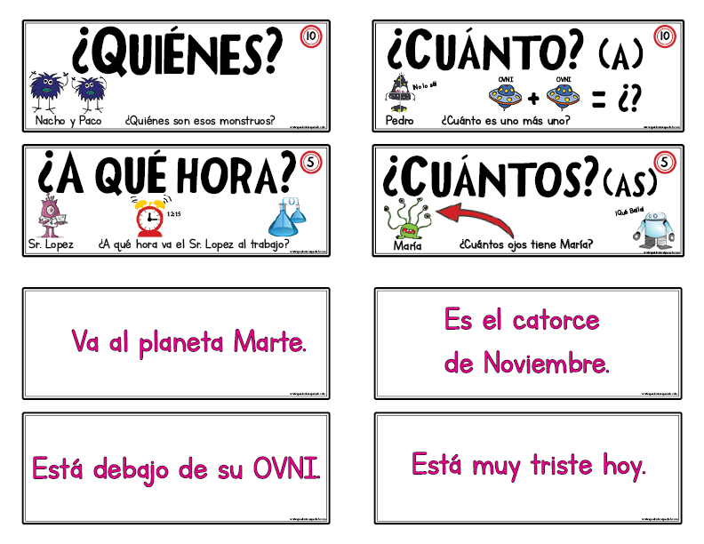 Gamify your Spanish class with question cards!