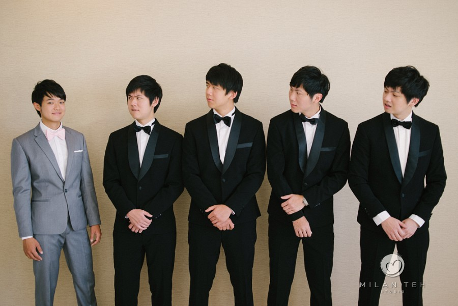 penang wedding photography groomsmen group photo