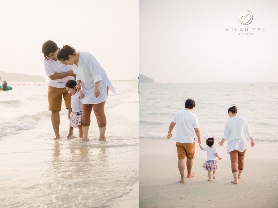 family photo at pantai cenang